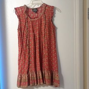 Angie mini dress or long sleeveless shirt